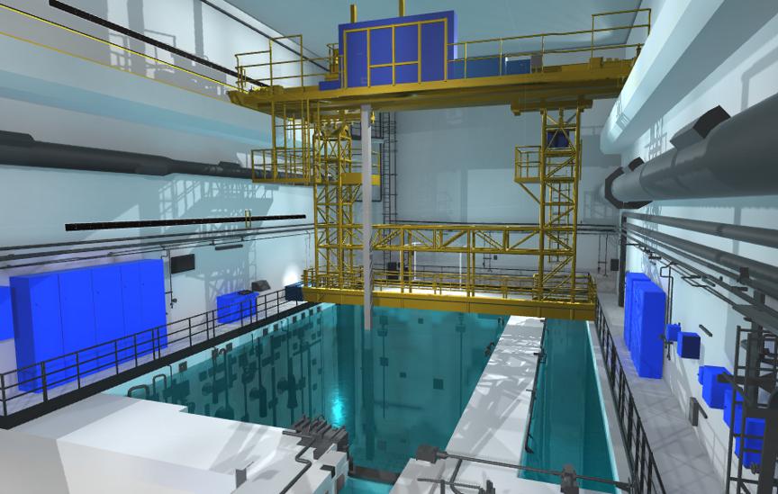 Simulateur en réalité virtuelle sur piscine