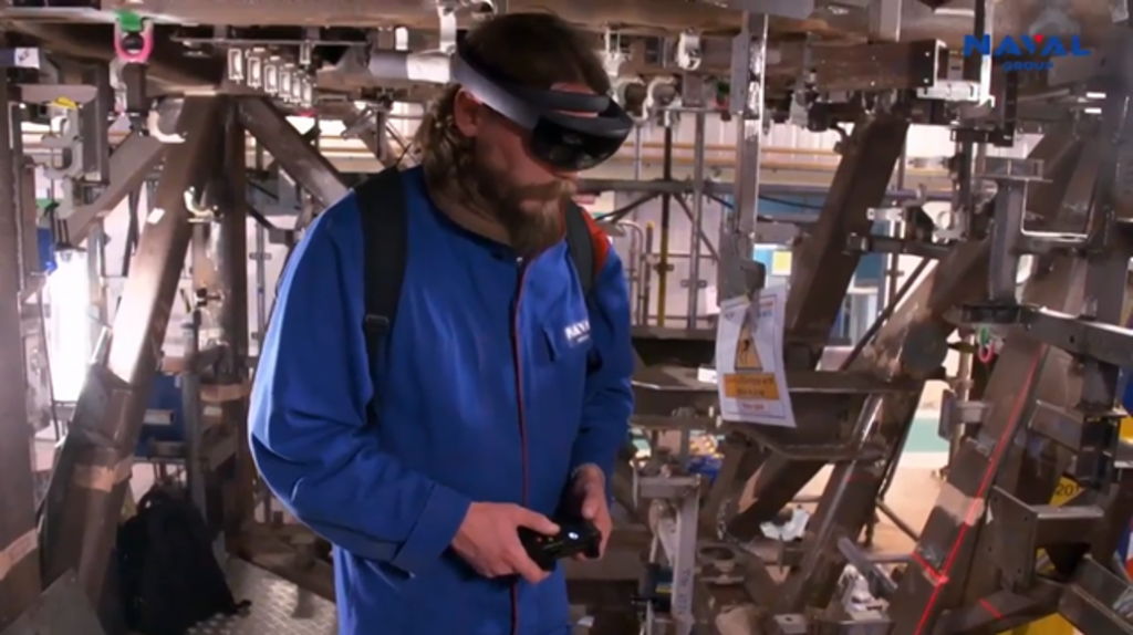 Holoreka : application de réalité augmentée pour Naval Group