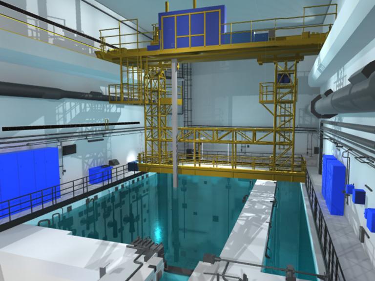 Simulateur en réalité virtuelle d'intervention sur piscine suite à une panne de puissance électrique