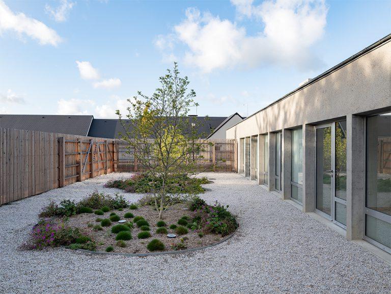 Construction of a multidisciplinary health center in Saint Clair sur Elle: architect: LEPOURY - LEPOURY-BERNARD - photo credit: Guillaume JOUET