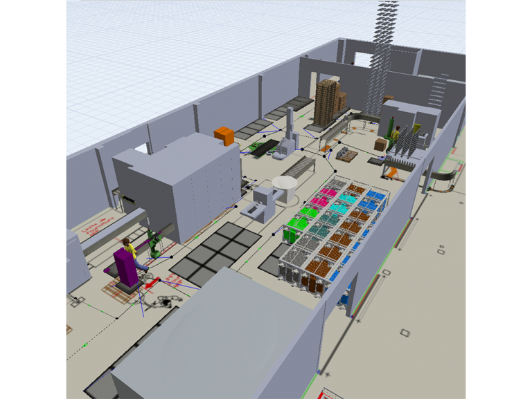 Etude de gestion de flux sur le site de LESSAY dans le cadre du projet de réaménagement des chaînes de conditionnement des soupes et purées