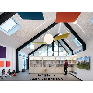 Construction of a school group for the SIRP Les 3 Chênes in Auvers: architect ALEX-LETENNEUR