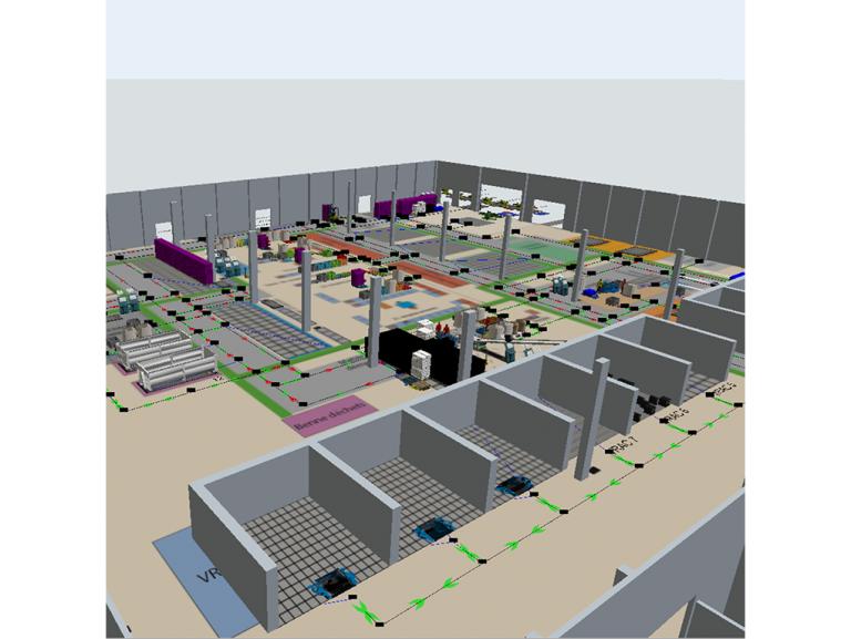 Etude et définition de la stratégie d'organisation des flux et de l'organisation des ateliers dans le cadre d'un projet de transfert de l'activité dans un autre bâtiment.