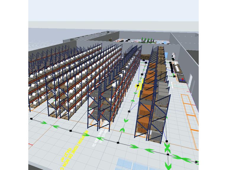 Etude et définition de la stratégie d'organisation des flux et de l'organisation des ateliers dans le cadre d'un projet de construction d'un bâtiment sur la commune de La Colombe