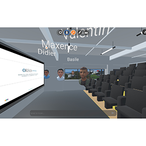 Locaux virtuels d'OREKA Ingénierie réalisé avec APTERO