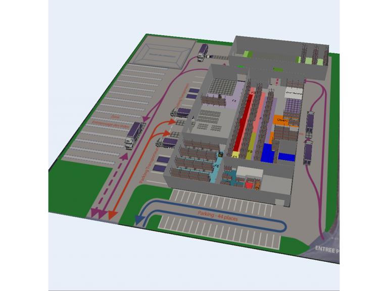 Etude et définition de la stratégie d'organisation des flux et de l'organisation des stockage dans le cadre d'un projet de réaménagement d'un bâtiment sur la commune de GIBERVILLE.