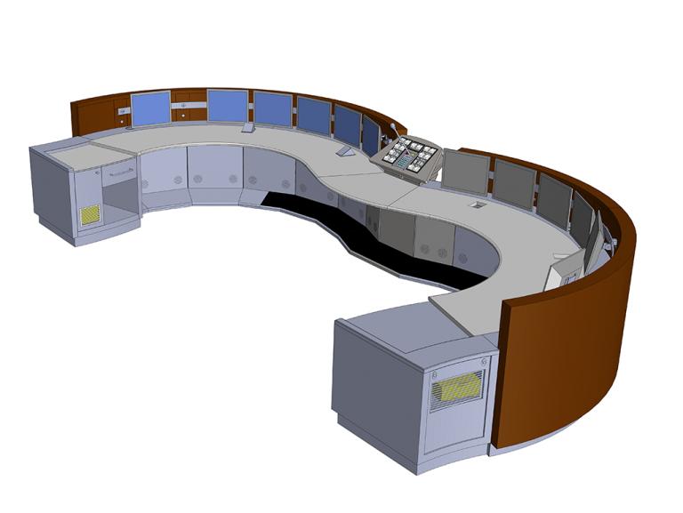 Etudes de conception des mobiliers des salles de conduite et suivi de fabrication