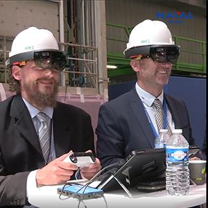 solution de réalité Augmentée développée avec NAVAL GROUP.