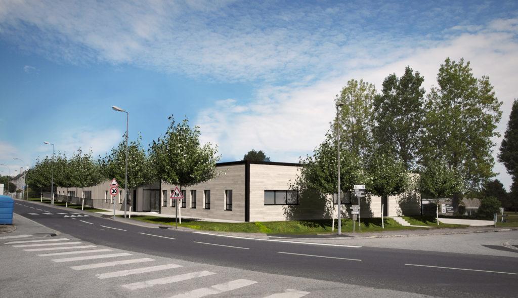 """Projet de Crèche """"PIM PAM POM"""" Querqueville, Architecte Nicolas NOYON"""