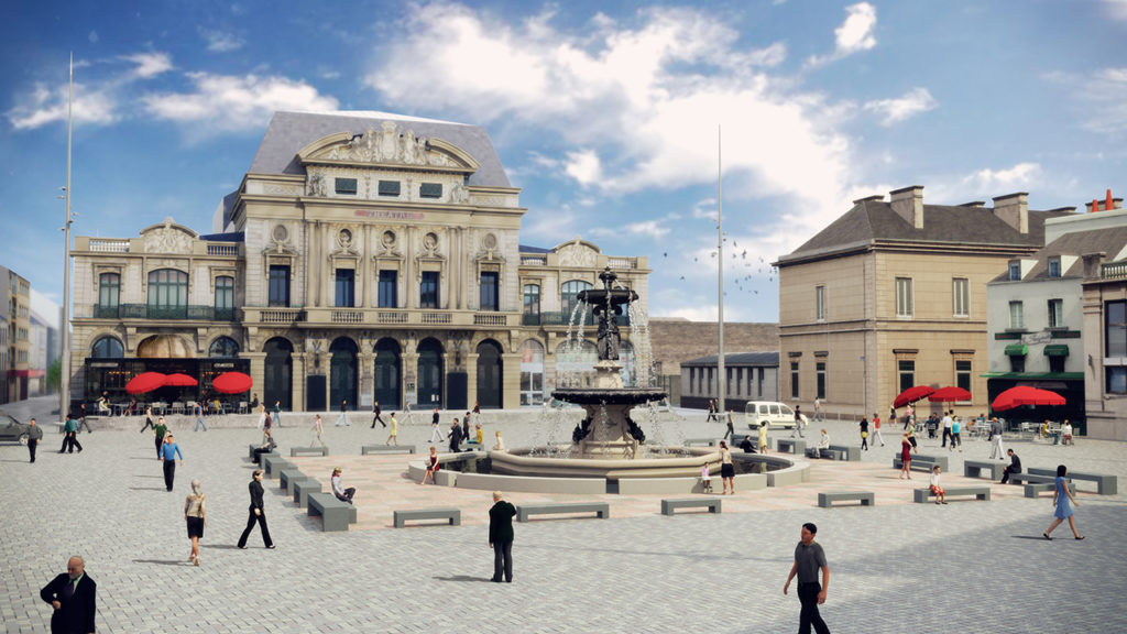 Aménagement urbain place du Général-de-Gaulle - Cherbourg-en-Cotentin