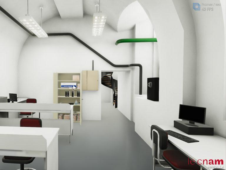 Salle virtuelle pour la réalisation de TP de mesures nucléaires